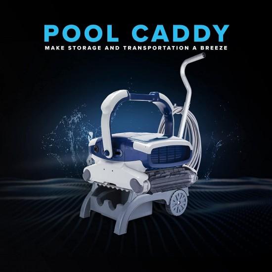 Elite Robotic Pool Cleaner for Gunite, Concrete, Pebble Pools with Anti-Tangle Swivel, Massive Dual Cartridge Filters, 3 Yr Warranty