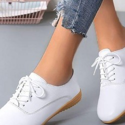 Women's Lace-up Closed Toe Wedge Heel Wedges