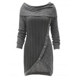 Casual Color Block Round Neckline Above Knee Sheath Dress
