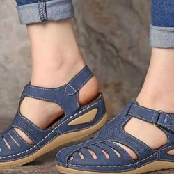 Women's Buckle Flats Low Heel Sandals
