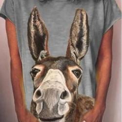 Animal Round Neck Short Sleeve Casual T-shirts