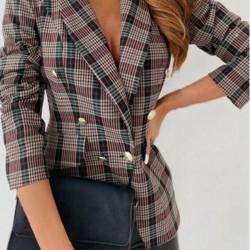 Long Sleeve Lapel Buttons Pockets Blazers
