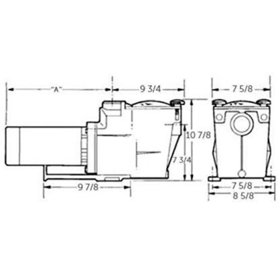 SP26115VSP Super Pump VS 0.85 HP Variable-Speed Pool Pump, Energy Star Certified