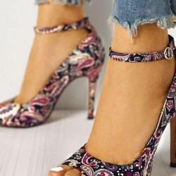 Women's Grommet Heel Stiletto Pumps