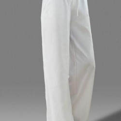 Casual Loose Pockets Mid Waist Cotton Blends Pants