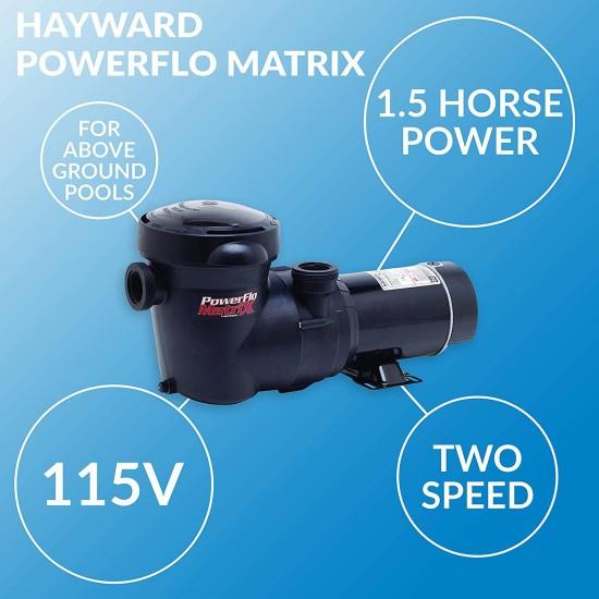 W3SP15932S PowerFlo Matrix Dual-Speed Above-Ground Pool Pump, 1.5 HP