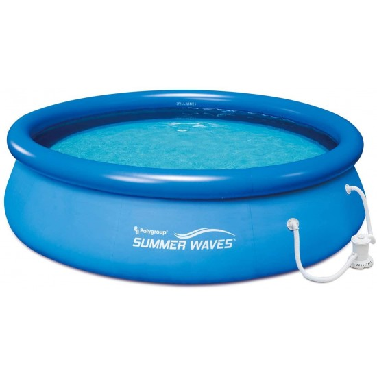 P1001030A138 5'x18 Quick Set Inflatable Above Ground Pool, Blue